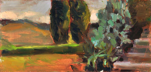 10x4 inches, 2010, oil paint on masonite